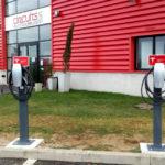 Bornes pour véhicules électriques
