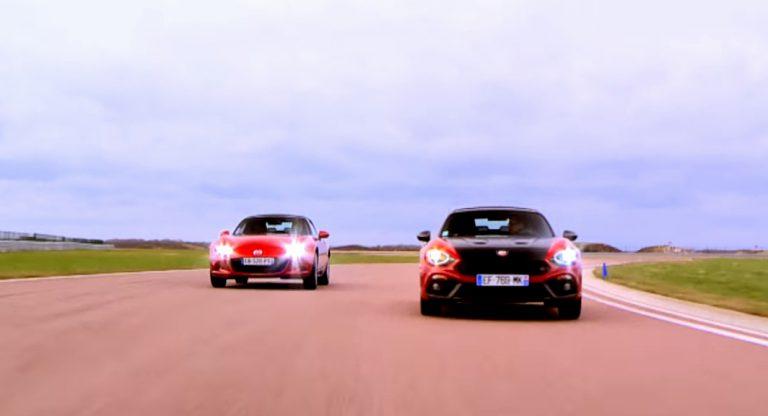 Les essais de Soheil Ayari - Abarth 124 Spider vs Mazda MX-5 | CircuitsLFG