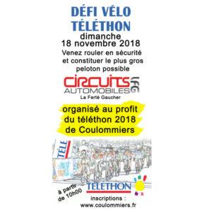 Défi vélo Téléthon - 18 novembre 2018