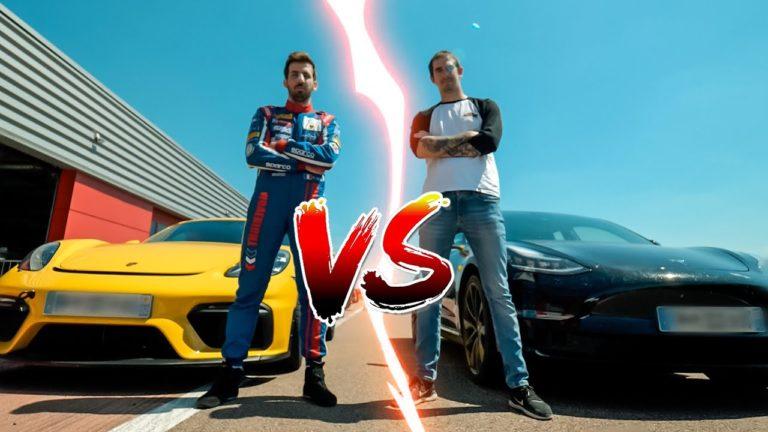 Duel Tesla / Porsche avec VodK et Romain Monti