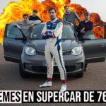 Romain Monti au volant de la Porsche Taycan Turbo S